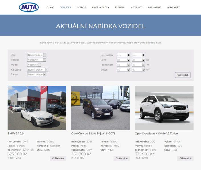 AUTA s.r.o. Kia, Nissan, Opel, Isuzu